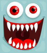 Stock Illustration of cute monster face