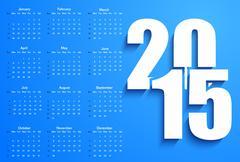 Blue 2015 calendar Stock Illustration