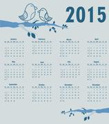 Stock Illustration of calendar for year 2015