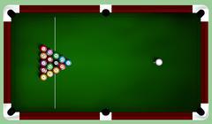 Stock Illustration of billiard balls on table