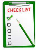 Clipboard checklist Stock Illustration