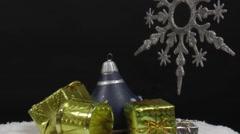 Christmas scene in the studio Stock Footage
