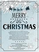 snowlfake christmas background - stock illustration