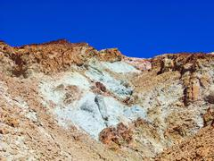artists point along artists drive, death valley national park - stock photo