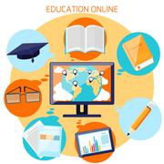 Stock Illustration of knowledge collected from around the world concept