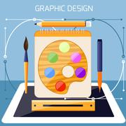 Graphic design and designer tools concept Stock Illustration