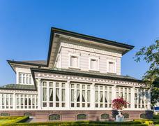 main residence building at bang pa-in palace - stock photo