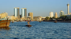 Dubai Creek Timelapse 4K Stock Footage