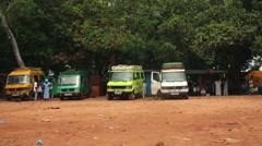 Africa Bandim street market city Bissau Guine Bissau Stock Footage