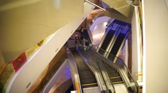 The mall elevator, in Shenzhen, China Stock Footage