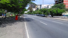 Traffic on Leblon District in Rio de Janeiro, Brazil Stock Footage
