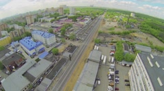 Cityscape near military units garrison of internal troops Stock Footage