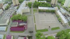 Plateau near barracks of military units garrison Stock Footage