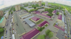 Cityscape with military units garrison of internal troops Stock Footage