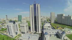 Complex with skyscraper and headquarters of Gazprom company Stock Footage