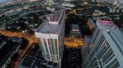 Townscape with dwelling complex Bogorodsky at evening. Stock Footage