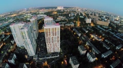 Megalopolis with dwelling complex Bogorodsky at evening. Stock Footage