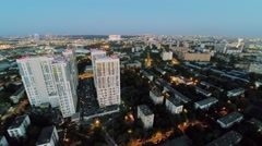Cityscape with traffic near dwelling complex Bogorodsky Stock Footage