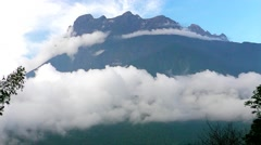 Mount Kinabalu in Sabah, Borneo, Malaysia Stock Footage