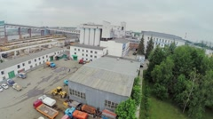 City panorama with House-building plant  3 and construction site Stock Footage