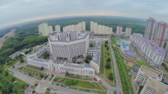 City panorama with Military Academy at spring day. Stock Footage