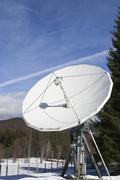 Antenna for space transmissions Stock Photos