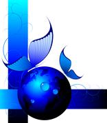 Stock Illustration of Blue abstract background