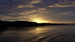 Alaska Sunset inside passage Stock Footage