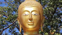 Golden Buddha statue on Pratumnak Hill in Pattaya, Thailand Stock Footage