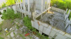 Carcase of abandoned building under construction Stock Footage