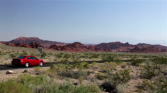 Driving through the desert Stock Footage