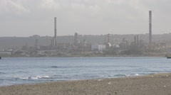 Oil refinery. Energy and Pollution.  Priolo, Melilli, Sicily. Stock Footage