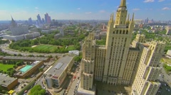 Megalopolis panorama with residential skyscraper Stock Footage