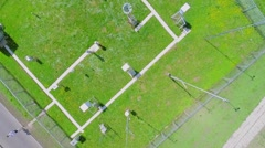 Equipment for weather forecast on area of meteorological station Stock Footage