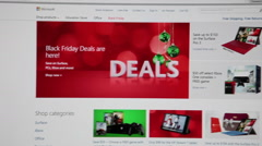 Black friday deals are in Microsoft.com - stock footage