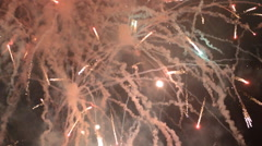 Stock Video Footage of Abundant Festive Fireworks in Barcelona