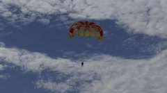 Paragliding in the Bahamas Stock Footage