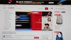 Black friday and cyber monday sales are in Aliexpress web site Stock Footage