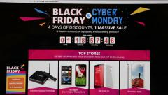 Black friday and cyber monday deals are in Aliexpress web page. Stock Footage