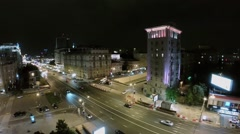 City traffic on crossing of New Arbat street and Garden Ring Stock Footage