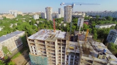 Building site of residential complex Falcon Fort at sunny summer Stock Footage