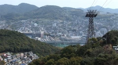 Japan Nagasaki Cityscape Stock Footage
