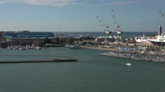 Livorno Italy marina port harbor pan 4K 008 Stock Footage