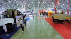 Different building machines at 15th Specialized Exhibition Stock Footage