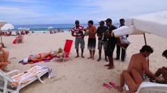 Brazilians Enjoying Samba (Traditional Brazilian Musical Genre) in Copacabana - stock footage