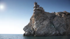 Swallow's Nest  castle on the rock over the sea, Crimea, Ukraine Stock Footage