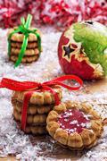 fragrant christmas cookies - stock photo