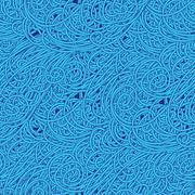 Seamless wave hand-drawn pattern, waves background.can be used for wallpaper Stock Illustration