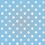 snowflakes winter seamless texture, endless pattern - stock illustration