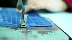 Sewing workshop, sewing clothes, close up 8 Stock Footage